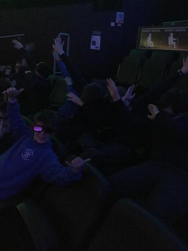 We looked funny in our 3D glasses!