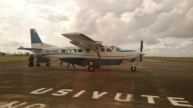 Our little aeroplane to Zanzibar