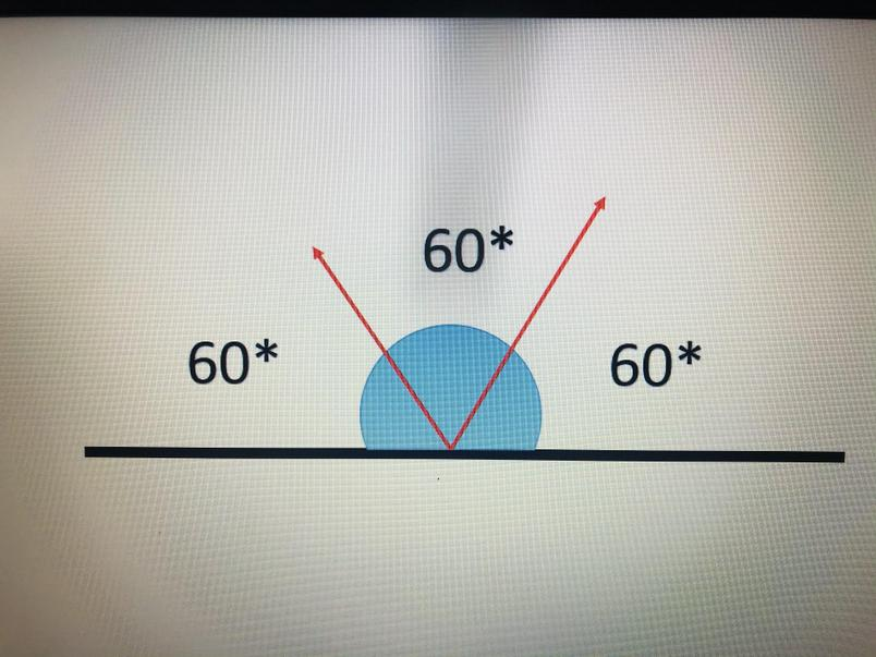 180 divided by 3 equals 60. Each angle is 60 degrees