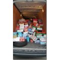 Over 250 shoeboxes