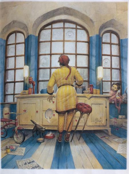 In the kitchen, Mr Hope can see...