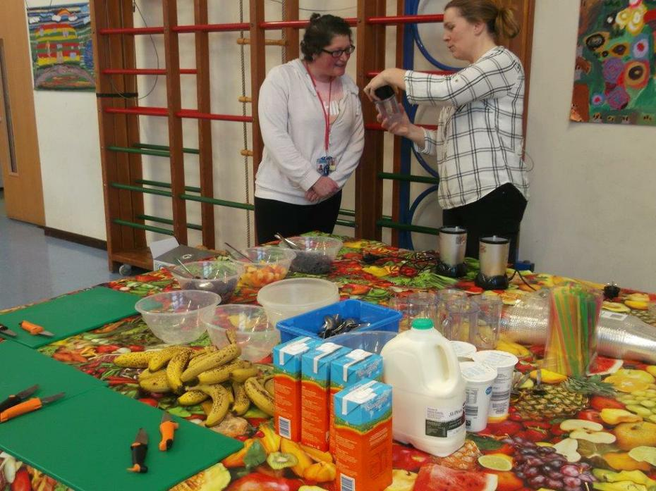 Smoothie Making with Mrs Evely and Mrs O'Gorman