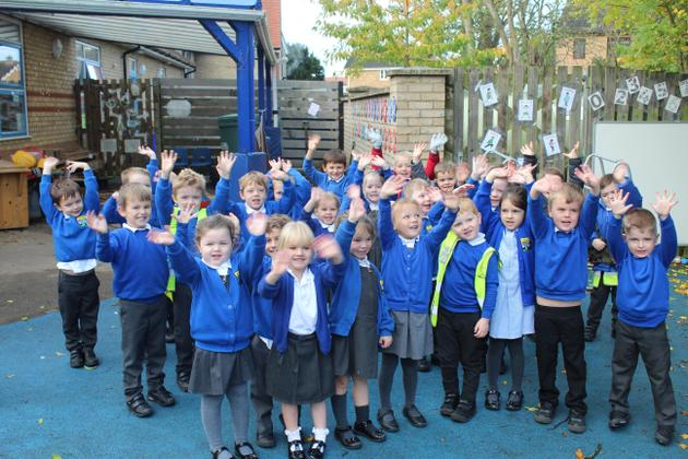 Year R: the end of their first half term in school