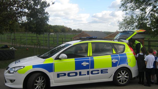 The police car.