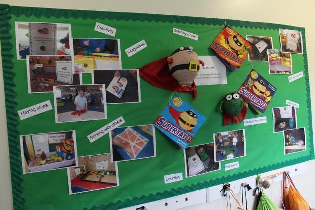 Celebrating children's work - 'Supertato'