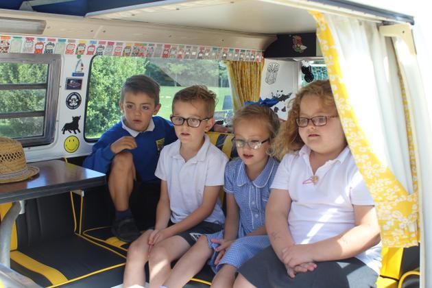 Exploring inside the campervan