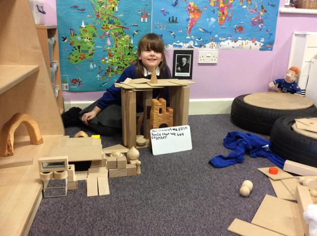 We built a castle and used an apostrophe!