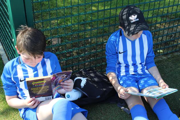 The children also found time to read between games