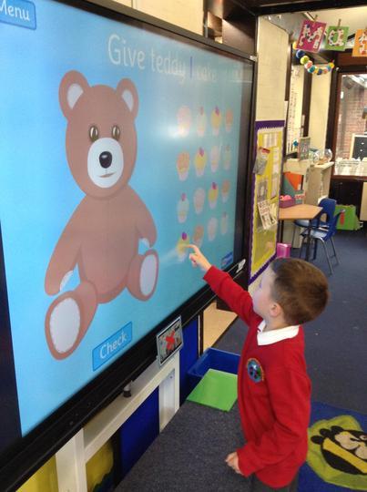Interactive whiteboard maths games