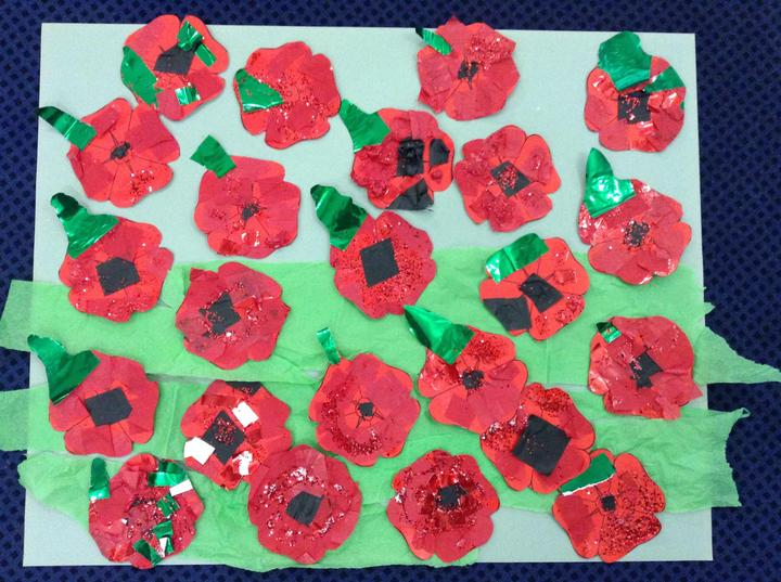 Red Class made some poppies for Remembrance Day.