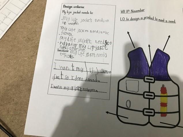 Designing a life jacket