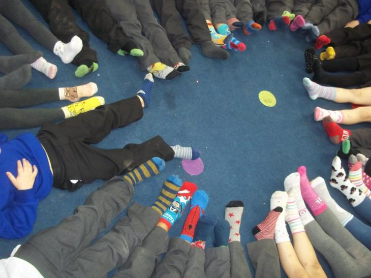 On Monday 16th November 2020 all staff and children celebrated Odd Socks Day.