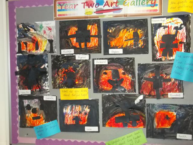 Class 8 Art Display February 2017