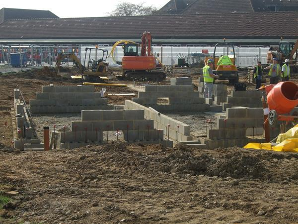 March 2014 - Building work continues