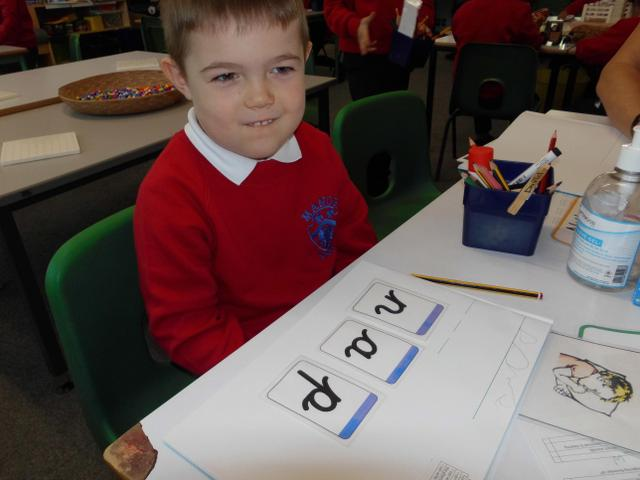 Writing CVC words