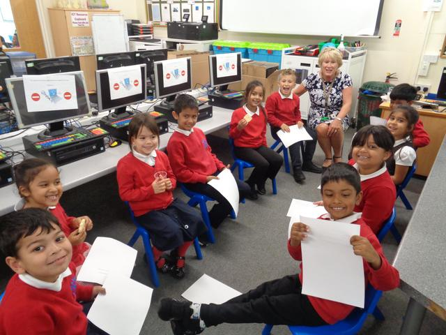 Year 1 School Council meeting with Mrs MsGorrighan