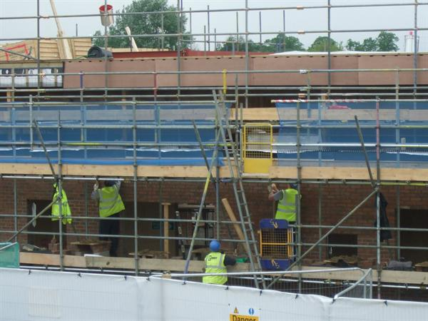 Builders working hard - May 2014