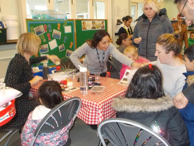 Face painting proved very popular