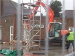 January 2014 - Preparing for demolition