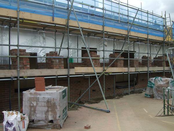 External brickwork has commenced
