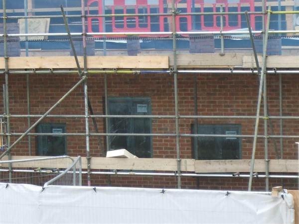 Windows are in place - May 2014