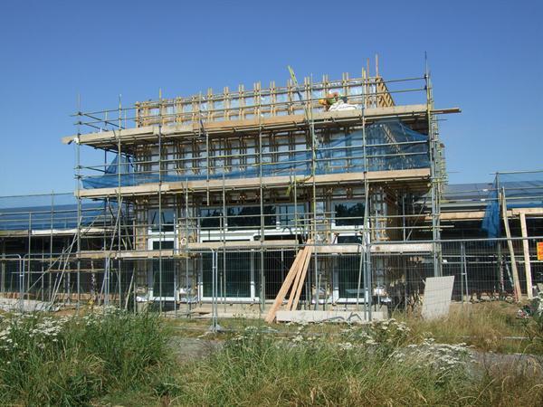 Progress of the Hall area - July 2014