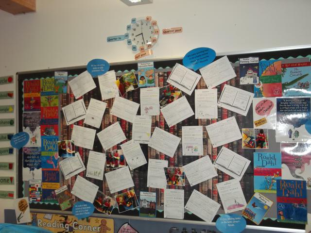 Class 8 Roald Dahl Display February 2017