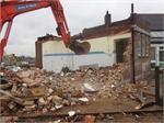 January 2014 - Demolition work begins