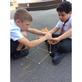 Spaghetti and Marshmallow Challenge.  Who can make the tallest tower?
