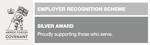 We have now been awarded the Silver Employers award!