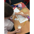 Creating our wooden frame.