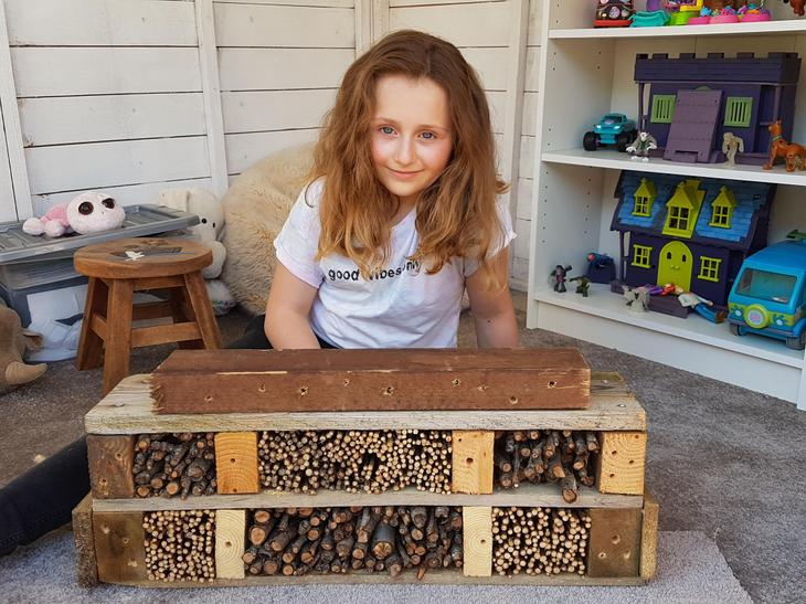 What an incredible Bug Hotel! Well done Amelie!