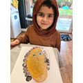 Cole's brilliant  Roy Leichenstein style painting