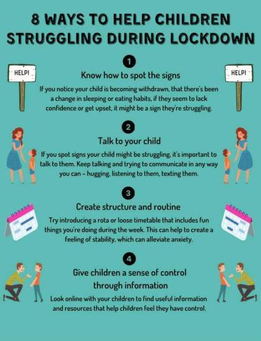 8 Ways to Help Children Struggling During Lockdown