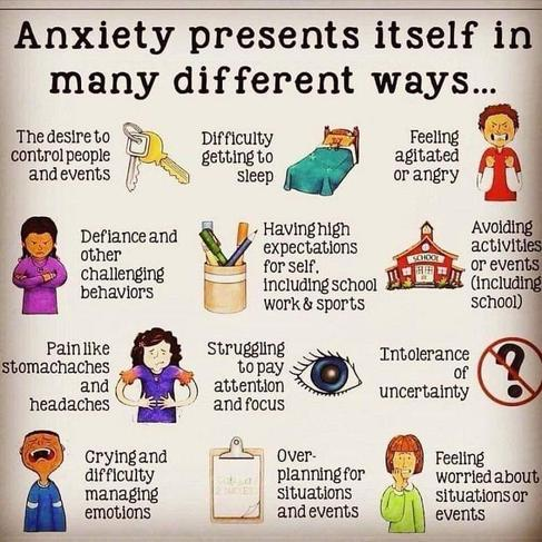 Anxiety presents itself in many different ways..