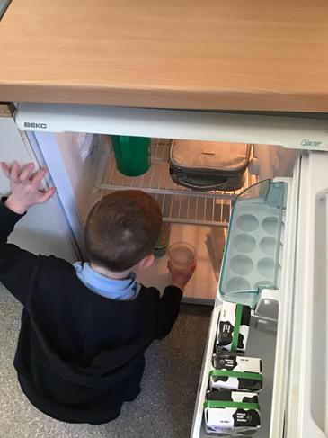 Where would ice melt the quickest? In the fridge...
