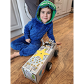 Cole made a car for his Power Ranger