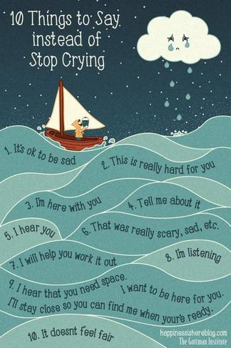 10 Tings to ay instead of Stop Crying
