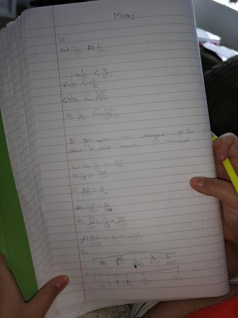 Great effort in maths