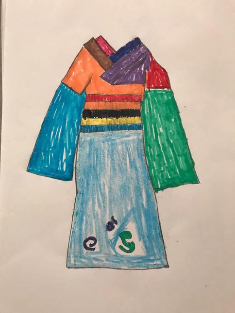 A beautiful colourful kimono
