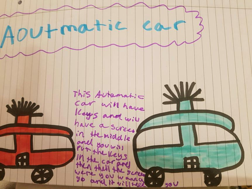 Well done Sehar for sending in the Automatic Car. Keep sharing what you're doing guys!