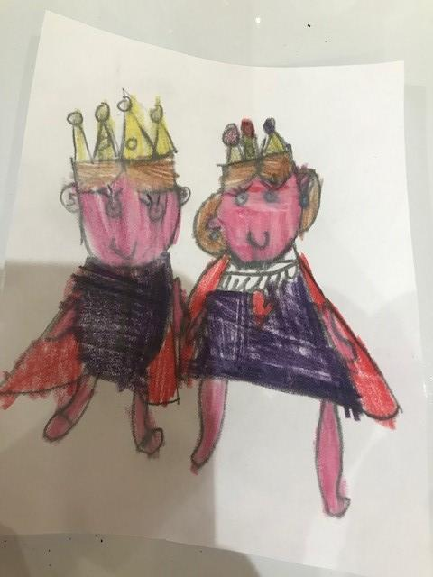 Queen Elizabeth II and Prince Phillip by Tilly