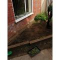 Our garden preparation area