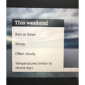 Part of a weather report