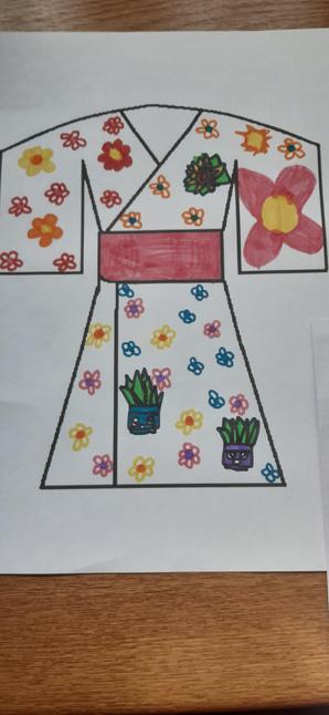 A beautiful flowery kimono!