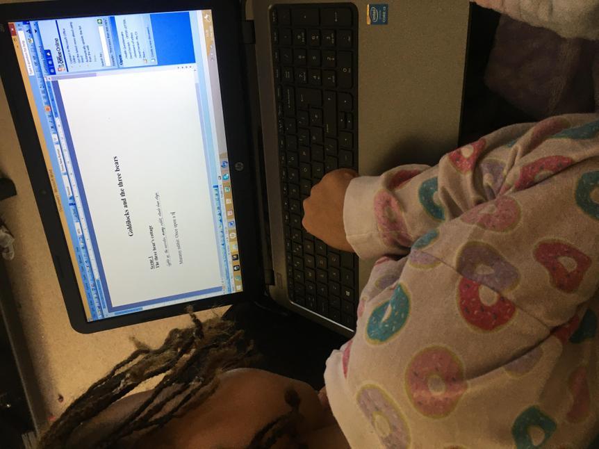 Working hard on script writing