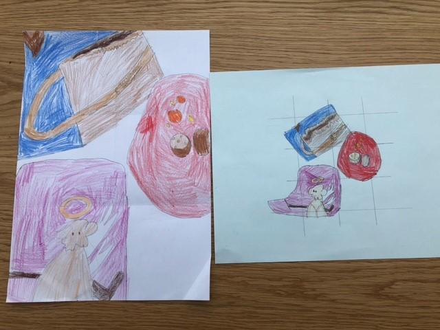 Wow Ruby, I hope you enjoyed the art as much as I enjoyed your picture!