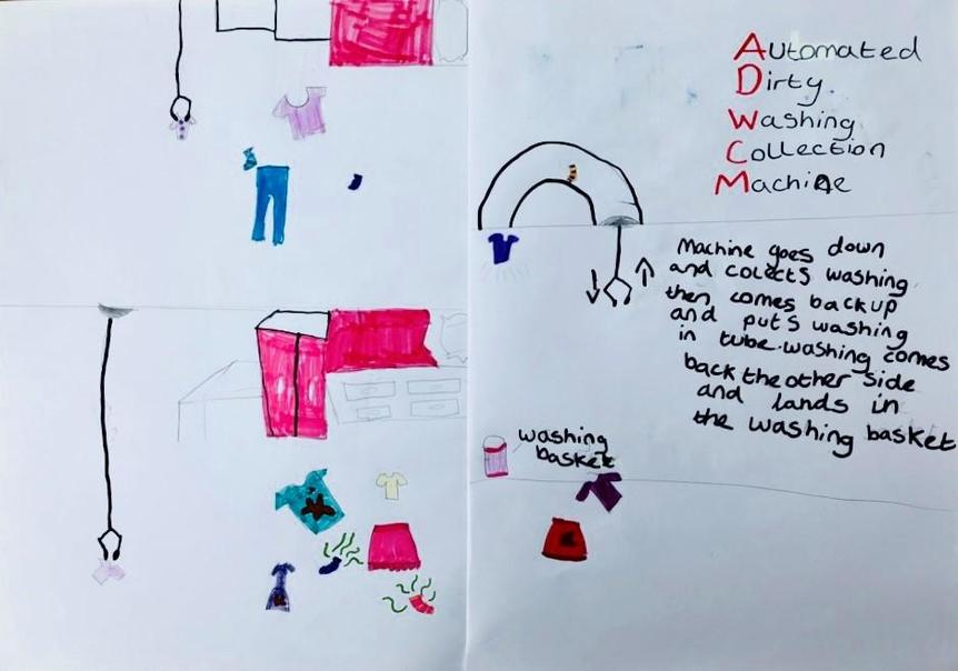 Well Done Ruby for creating this 'Automated Dirty Washing Collection Machine'. Good Idea!