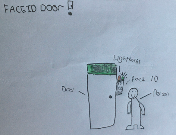 Well done Andrew for coming up with this 'Face ID Door'. Keep sending in your work class!