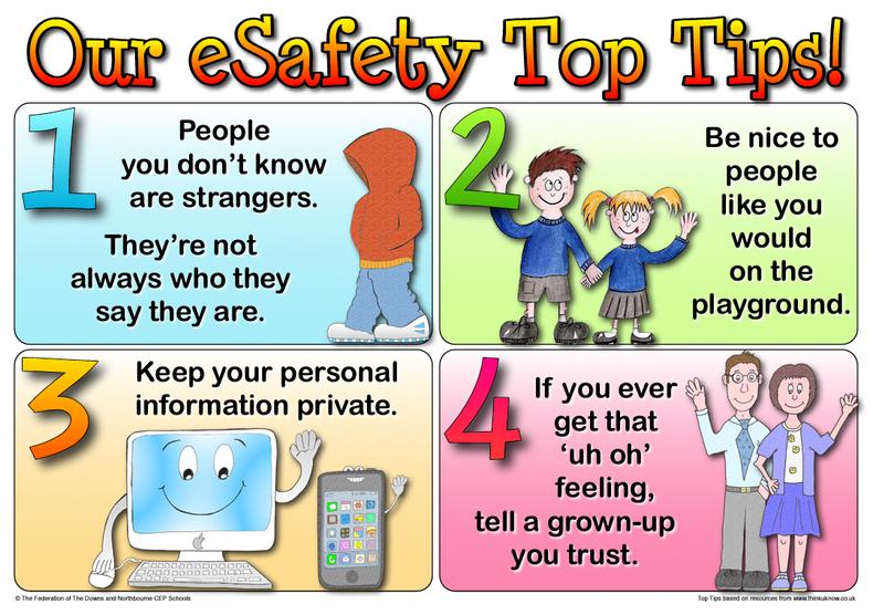 E-safety Top Tips